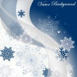 Winter Snowflake Background Vector 01