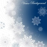 Winter Snowflake Background Vector 02