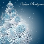Winter Snowflake Background Vector 03