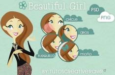 Beautiful Long Hair Girl PSD
