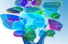 Creative Abstract Tree Speech Bubbles Vector 03