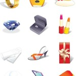 Fashion Women Accessories Icons Set Vector