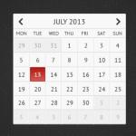 Clean Grey Calendar UI PSD