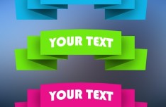 Colored Web Ribbons PSD