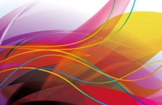 Colorful Abstract Curves and Lines Background Vector