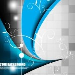 Creative Color Blocks with Abstract Background Vector 02