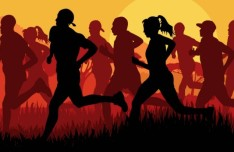 Vector Running People Silhouette 02