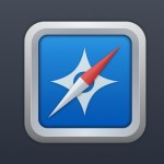 Clean Safari Icon with Metal Border PSD