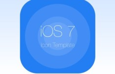 iOS 7 Icon with Grid Template PSD