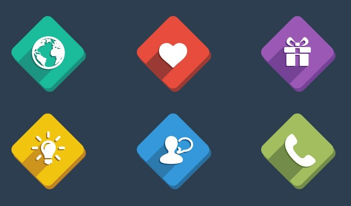 Present Icon Psd Free Semi Rounded Web ...