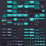Rudy Tail – Green and Dark Web UI Kit PSD