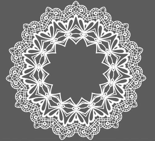 Free White Lace Pattern Ornament Vector Titanui