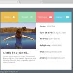 Flat PSD Resume Website Template