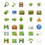 Green Web Icons Pack (EPS Included)