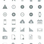 Grey Web Icons Pack Vector