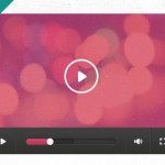 Flat Styled Video Player Widget PSD