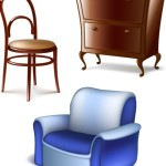 Set Of Vector 3D Furniture 01