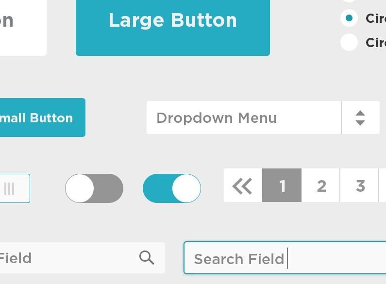 Free Blue Flat UI Kit PSD - TitanUI | 795 x 585 jpeg 39kB