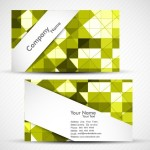 Fashion Business Cards with Yellow Abstract Backgrounds Vector