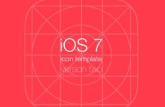 iOS 7 Icon Grid System Template PSD