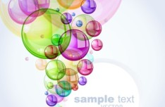 Romantic Abstract Soap Bubbles Background Vector 01