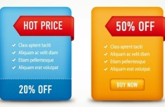 Clean Price and Discount Tables Vector