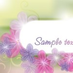Fresh & Bright Floral and Flower Background Vector 03