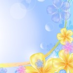 Fresh & Bright Floral and Flower Background Vector 05