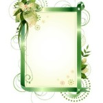 Set Of Vector Elegant Floral Borders & Frames