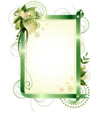 set of vector elegant floral elegant colorful borders