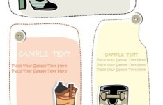Set Of Vector Hand Drawn Shoe Labels 05
