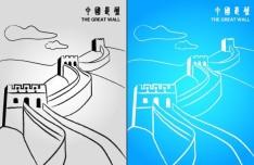 The Great Wall China Vector Illustration