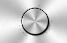 Volume Control Wheel with Metal Surface