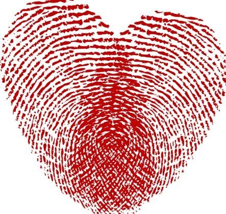 Free Vector Red Fingerprint Love Heart Titanui