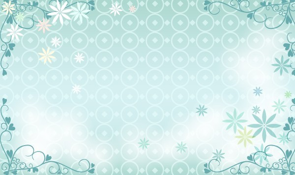 Free Blue Floral Wedding Background Vector - TitanUI