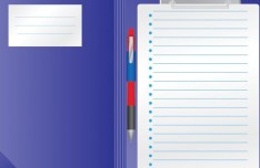 Checklist Clipboard Template Vector 02
