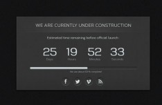 Dark Cool Web Under Construction Page Template PSD