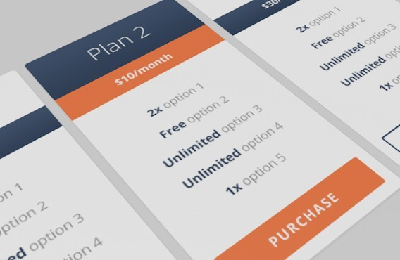 Free flat responsive pricing table template psd titanui for Table design responsive