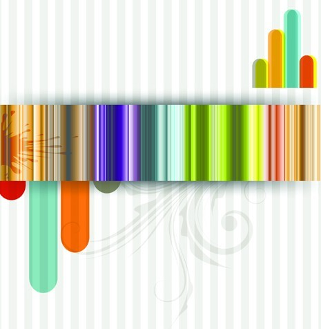 Free Glossy Color Stripes Background Vector - TitanUI HD Wide Wallpaper for Widescreen