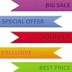 Set Of Vector Colored Corner Ribbons For Web Design 02