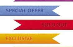 Set Of Vector Colored Corner Ribbons For Web Design 02