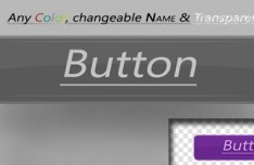 Simple Rounded Button Template PSD