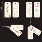 Set Of Clean & Sweet Clothing Tags Vector