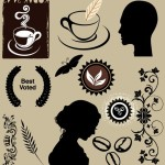 Coffee Themed Vector Design Elements
