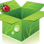 Green ECO Concept Cardboard Box