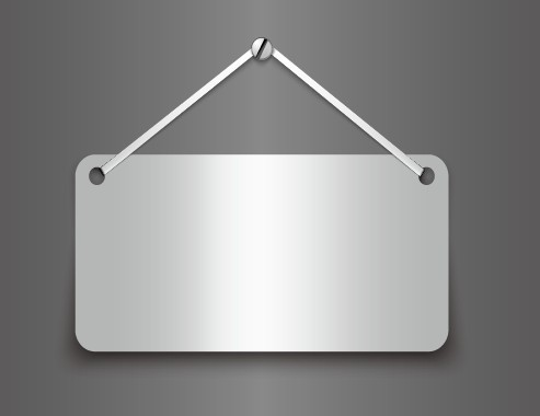 Free Metallic Board Hanging From A Nail Vector Titanui