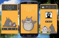 My Neighbor Totoro Galaxy S III Theme PSD