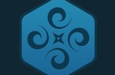 Subtle Hexagon Symbol PSD