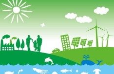 Vector Illustration of Green Energy Concept For Environmental Protection 09
