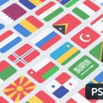 100+ Flat National Flag Icons PSD